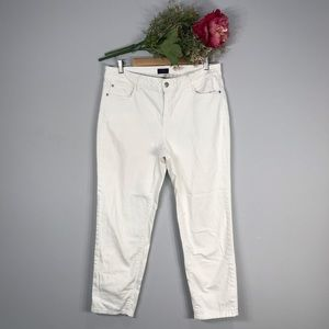 NYDJ | White High Waisted Skinny Ankle Jean SZ12